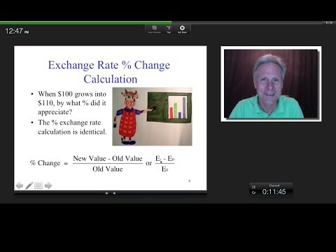 Exchange Rate Communication and % Change Calculations, James Tompkins