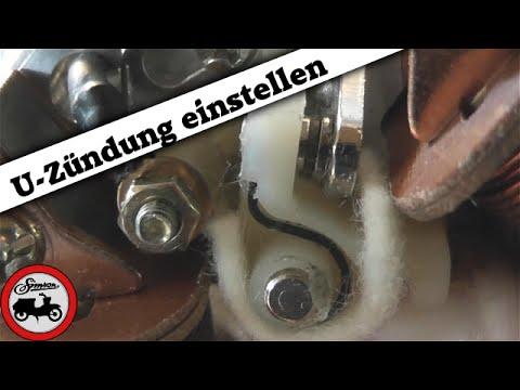 Simson Grundlagen #6.2 - Unterbrecherzündung einstellen - YouTube