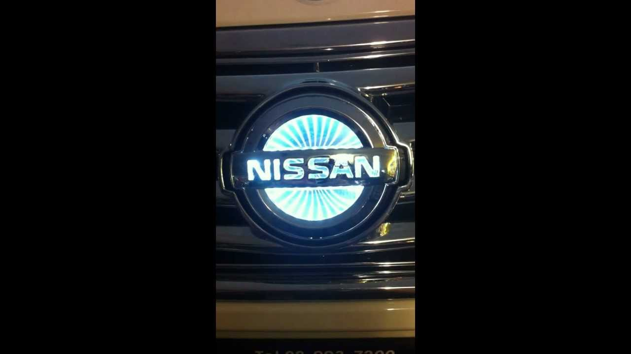 Led Logo Nissan 3d Youtube
