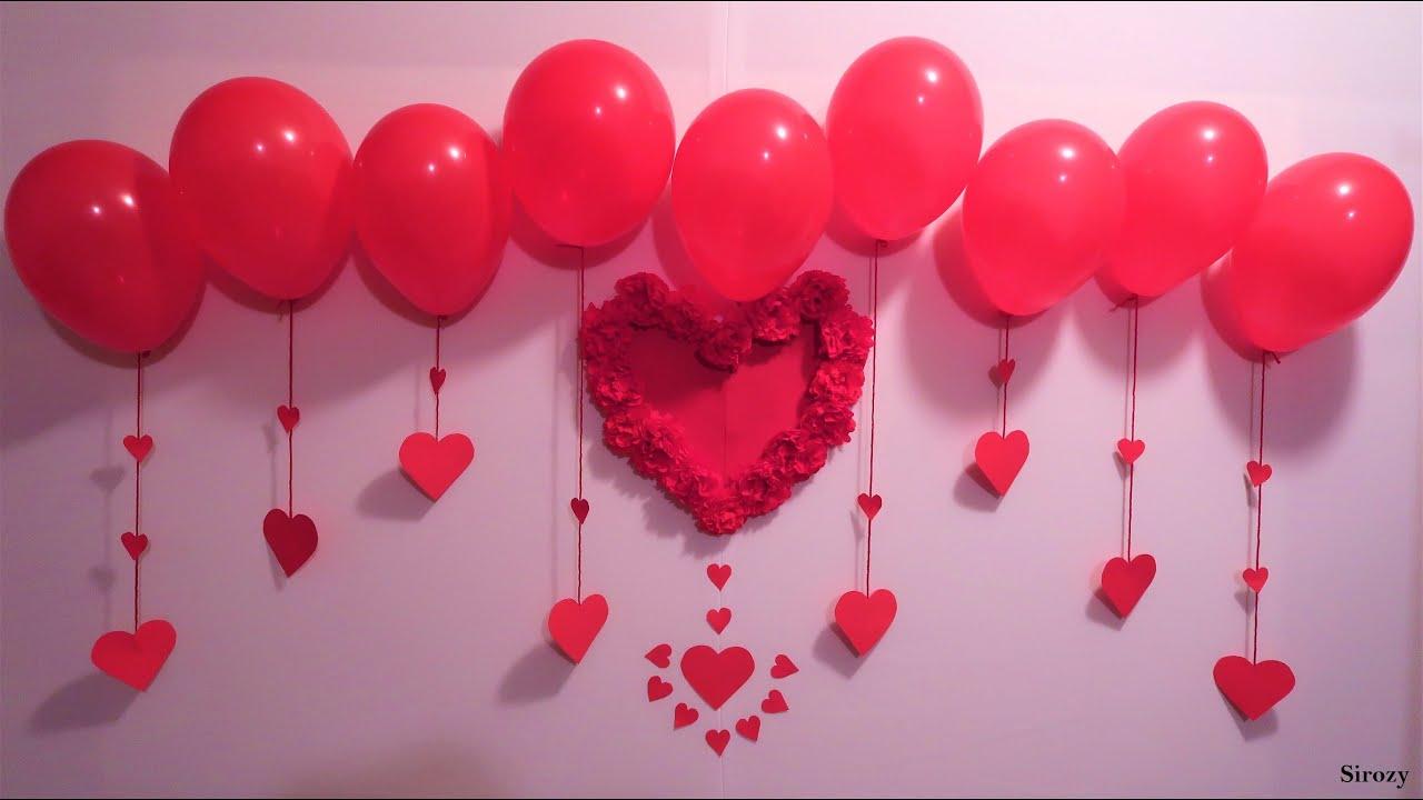 Birthday Party Decoration Wedding Anniversary Decoration Valentine Decoration Ideas Youtube
