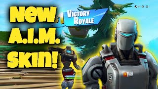 Clutching W/ NEW A.I.M. Skin!!! | Fortnite Battle Royale