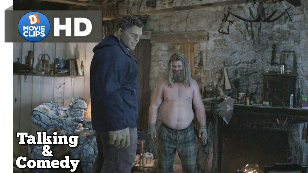 Download Avengers Endgame Hindi Fat Thor Talking & Comedy Scene MovieClips