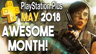 PlayStation Plus MAY 2018 - AWESOME Month! 3 FREE PS4 GAMES + More!