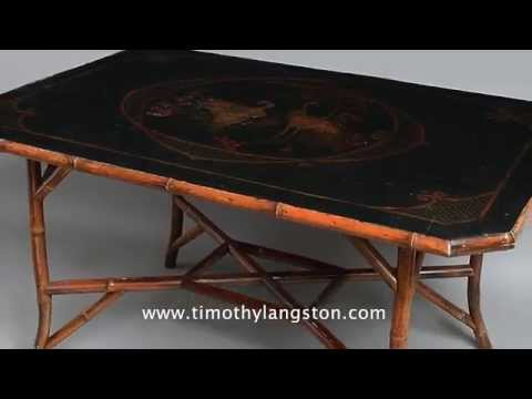 A 19th Century Lacquer Centre Table