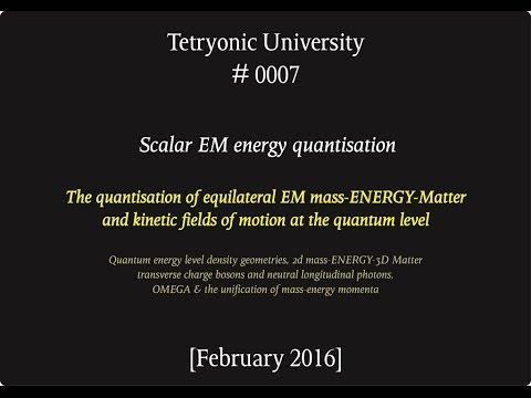 Tetryonic Uni 0007 -  Scalar EM mass-energy quantisation