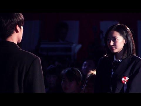武田玲奈&葉山奨之が熱いハグ 怪盗ピンキーも熱演 『恋チャ卒業式』公開生ドラマ