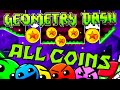 Geometry Dash - All Coins (Levels 1-20)