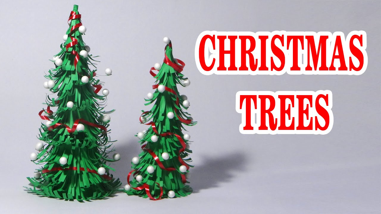 Christmas Tree Craft.How To Make Paper Christmas Tree Making Of Paper Christmas Tree Making Of Origami Christmas Tree