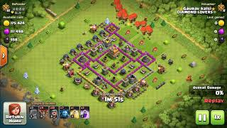 Best attacking stratigies for town hall 7 clash of clans by use of ballon