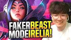 FAKER DESTROYING with IRELIA! - SKT T1 Faker Plays Irelia vs Fizz Mid! | S9 KR SoloQ Patch 9.11