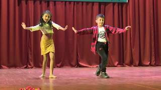 Bollywood Small Kids Duet Dance Choreography 90's Era Neel and Urvi | Hindi Songs | Annual Day