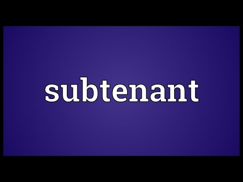 Header of subtenant