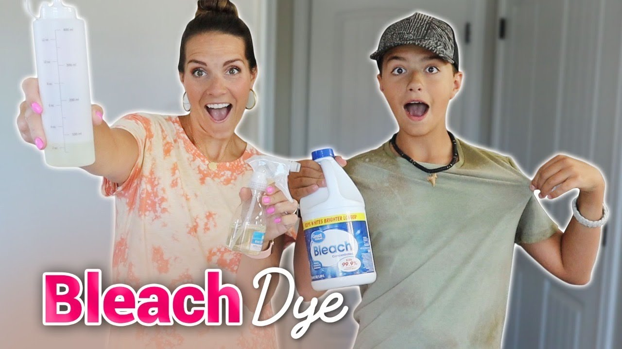 DIY BLEACH DYE | HOW TO BLEACH DYE A SHIRT AT HOME