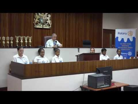 The Fred Spears Memorial Inter-school Debate 2015