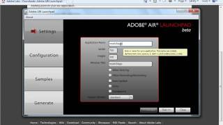 Introduction to the Adobe AIR Launchpad
