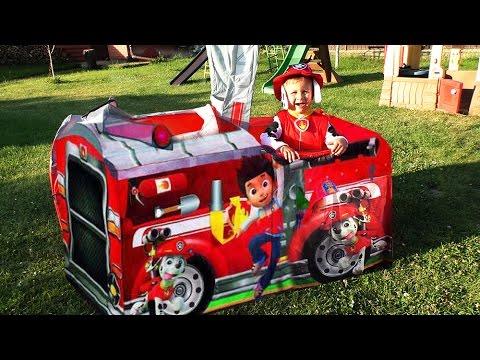ЩЕНЯЧИЙ ПАТРУЛЬ Пожарная Машина ЩЕНЯЧИЙ ПАТРУЛЬ Игрушки PAW Patrol Toys Unboxing PAW Patrol Tent