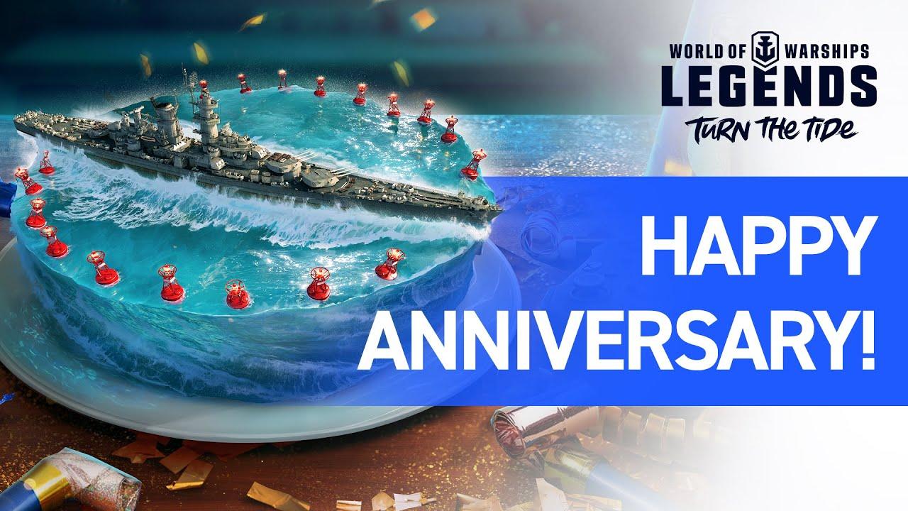 World of Warships: Legends – Feliz aniversario, leyendas