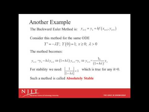 Numerical Stability for ODEs part 1