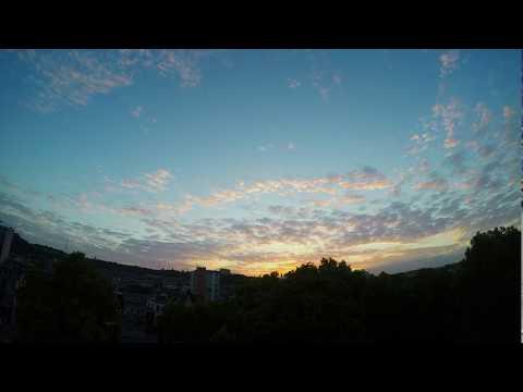Sunset in Liège (timelapse)