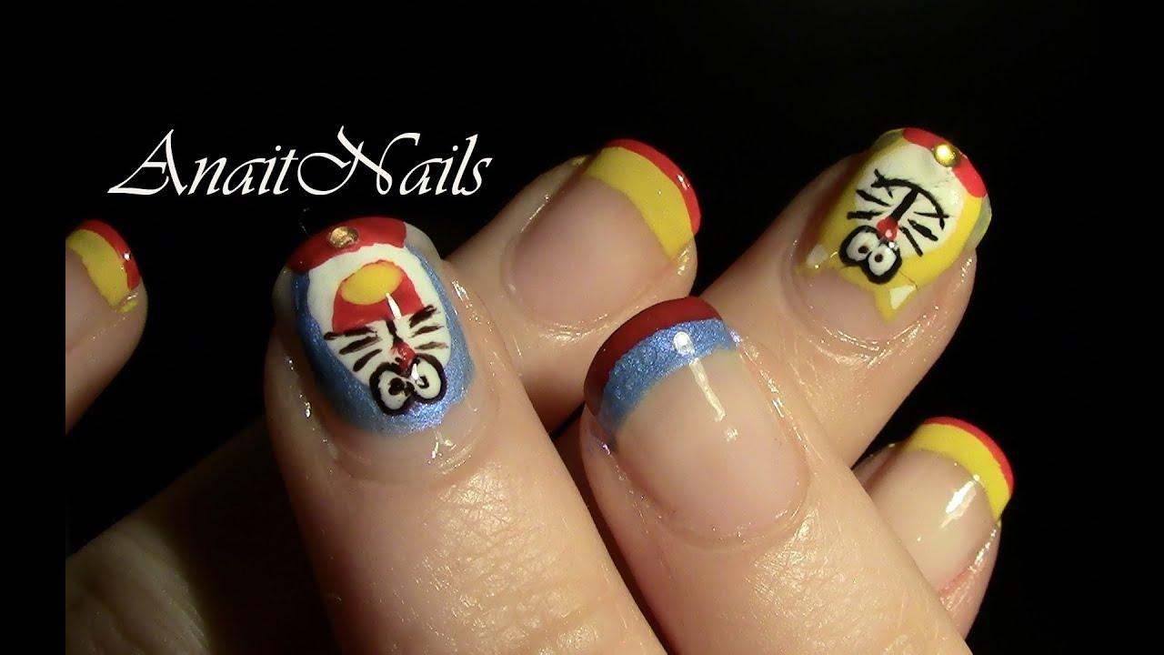 Nail Art Doraemon Youtube