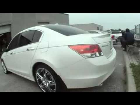 honda accord 2008 with 20 inch rims youtube. Black Bedroom Furniture Sets. Home Design Ideas