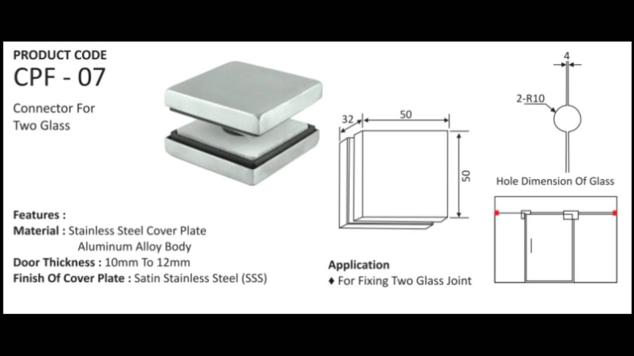 Patch fittings typical application for glass door with patch fittings - Patch Fittings