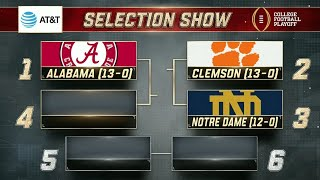 College Football Playoff Rankings Release | Selection Sunday