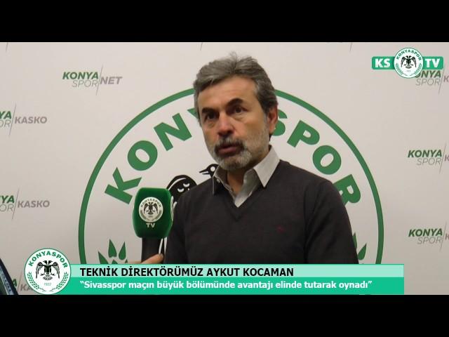 Teknik Direktörümüz Aykut Kocaman Sivasspor galibiyetini değerlendirdi