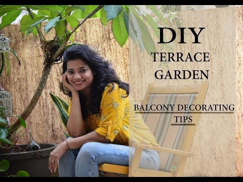 DIY Terrace decoration ideas India l Rental balcony makeover. Garden ideas in hindi. Ask Iosis Hindi