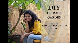 DIY Terrace decoration ideas India l Rental balcony makeover. Garden ideas in hindi. Ask Iosis Hindi
