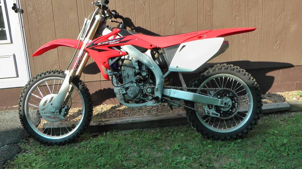 2007 Honda Crf450r Dirt Bike Start Up High Definition Hd Youtube