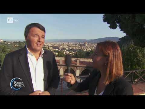 Il docufilm su Firenze di Matteo Renzi - Porta a porta 20/09/2018