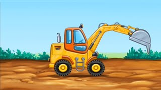 Truck Games For Kids - Build a House,  Car Wash Part 3