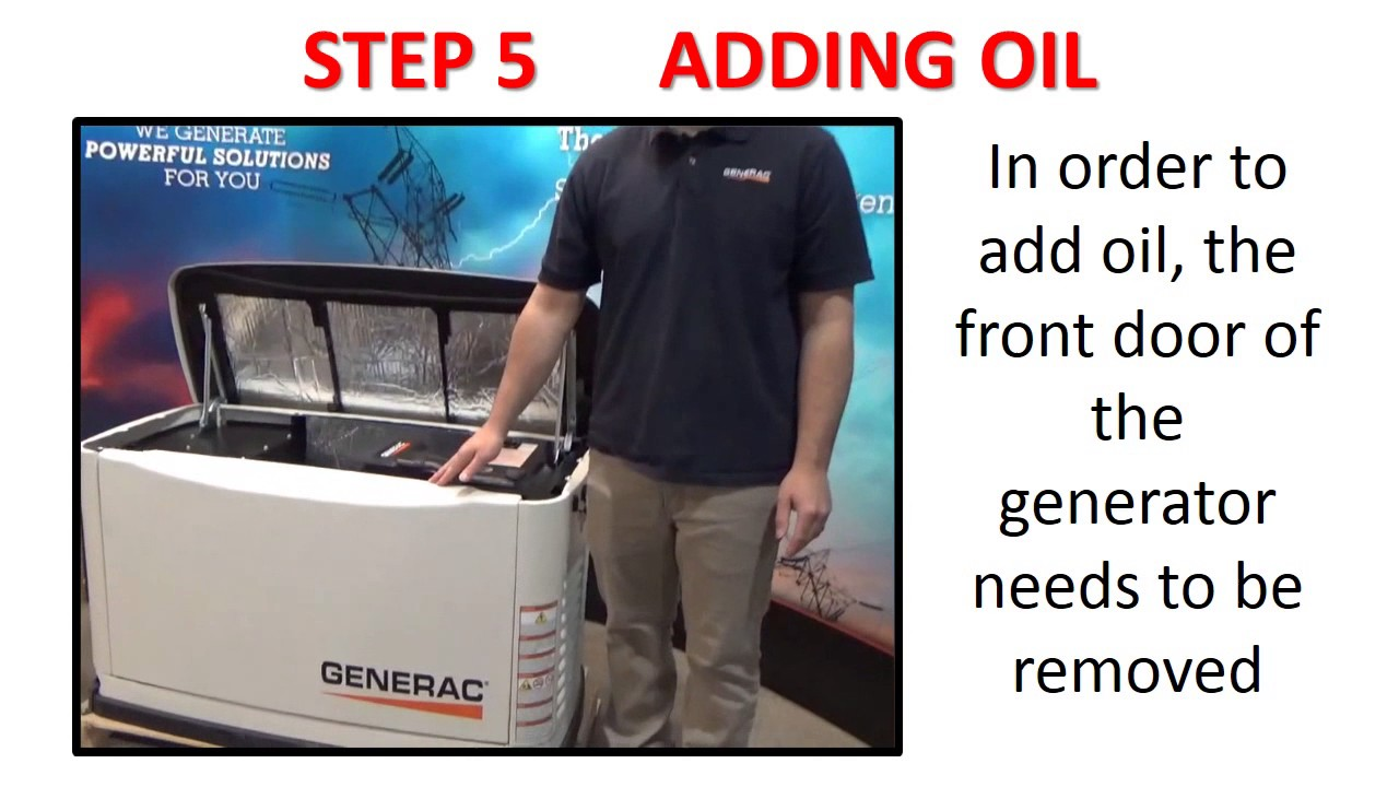 Checking The Oil On A Generac Generator Youtube