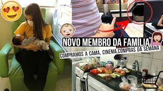 NOVO MEMBRO DA FAMÍLIA, COMPRAMOS A CAMA, CINEMA, COMPRAS DA SEMANA ♥ - Bruna Paula #VEDA29