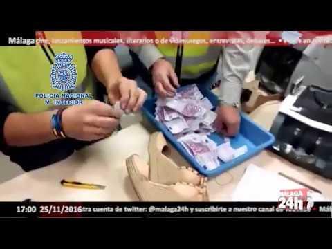 Málaga 24h TV - La Policía Nacional interviene 180.000 euros ocultos en cuñas de zapatos de mujer