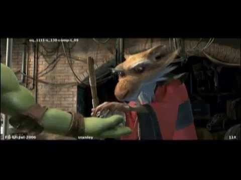 TMNT 2007 - Deleted Scene - Splinter Gets Cake