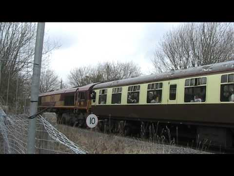 Class 66 special train Ammanford 9/3/13