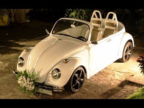 volkswagen beetle bridal car wedding event service youtube. Black Bedroom Furniture Sets. Home Design Ideas