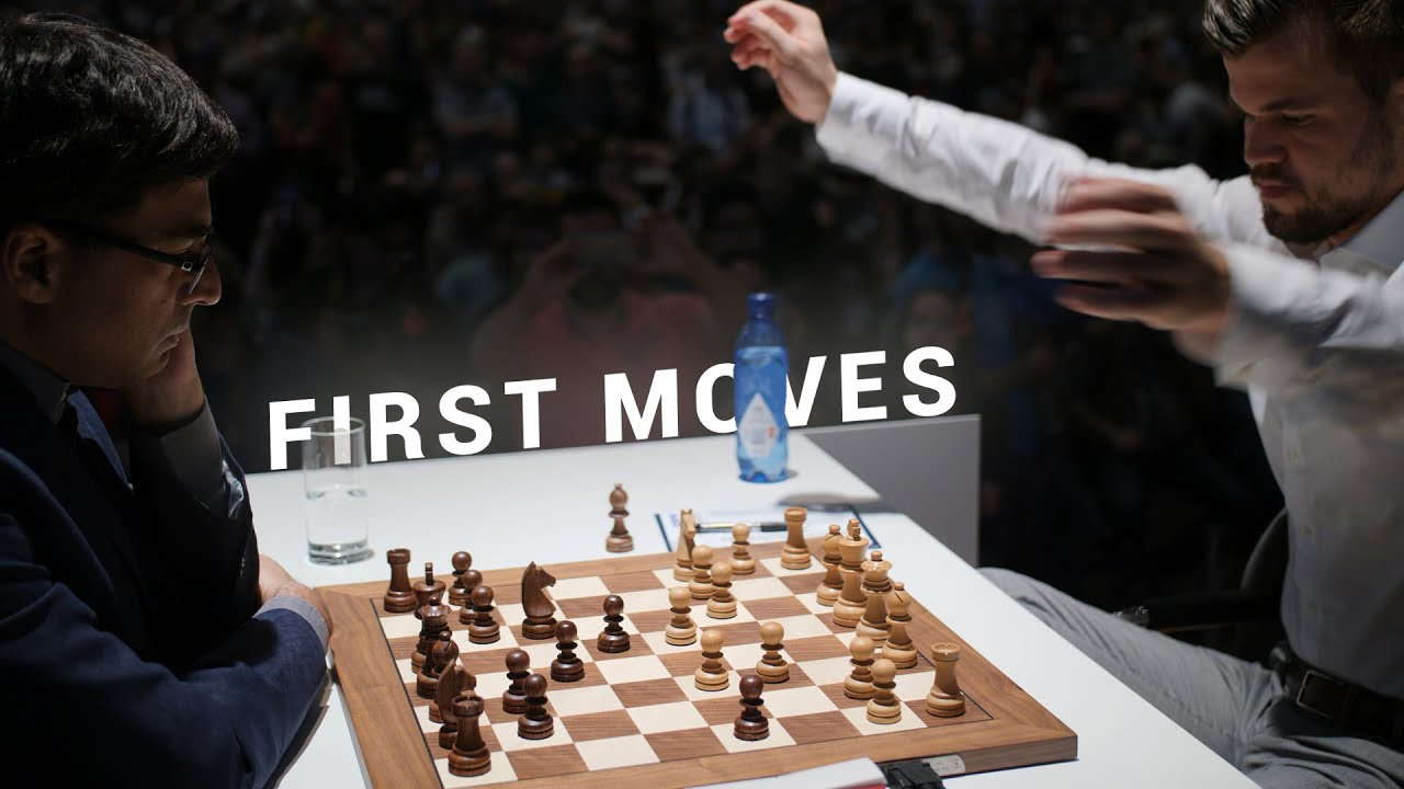 Download Carlsen vs Anand | World Champion Battle | First Moves GRENKE Chess Classic 2019
