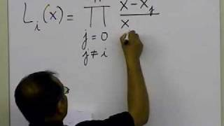 Lagrangian Interpolation - Theory