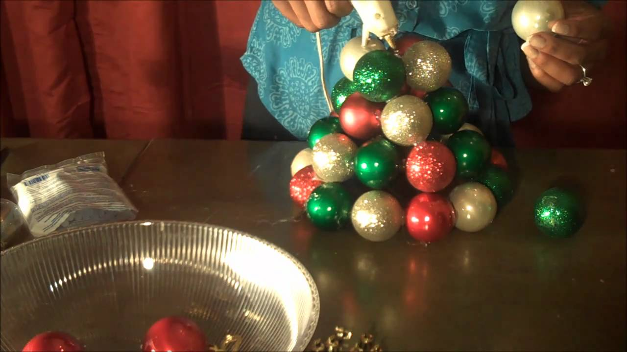 Super Fantastic And Easy To Make Ornament Tree Using Dollar Materials You