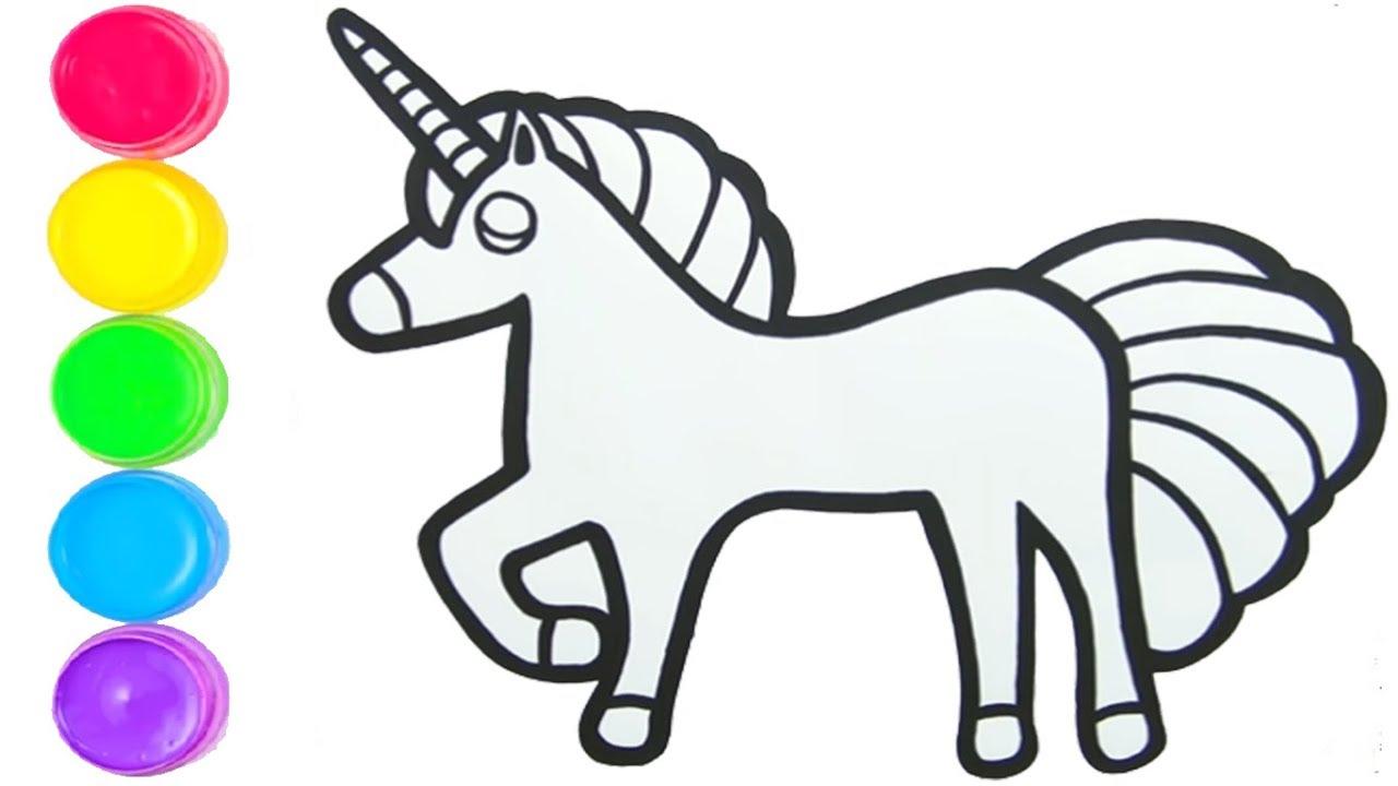 Unicorn Nasil Cizilir Tek Boynuzlu At Cocuklar Icin Resim Cizme