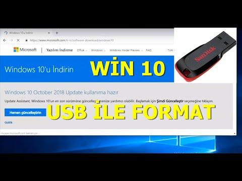 WİN 10 USB İLE FORMAT ATMA (DETAYLI