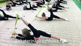 Интересные упражнения с резиной для растяжки и укрепления мышц. Художественная гимнастика.