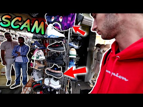BUYING FAKE YEEZYs, SUPREME and BAPE in LONDON! THEY tried to SCAM US 😭