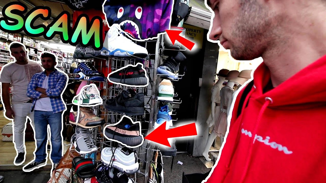 How To Remove Gum From Shoes >> BUYING FAKE YEEZYs, SUPREME and BAPE in LONDON! THEY tried to SCAM US 😭 - YouTube