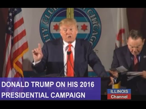 Donald Trump on his 2016 Presidential Campaign