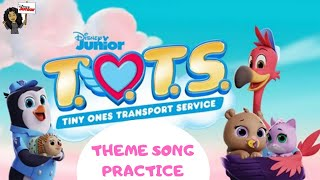 Teaching myself how to play the Keyboard! | Disney Junior | T.O.T.S. | Theme Song