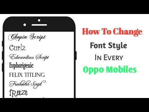 How To Change Font Style In Every OPPO Mobile || Music Area